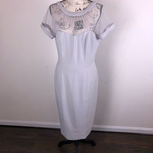 Maggy London Illusion Top Dress in Silver